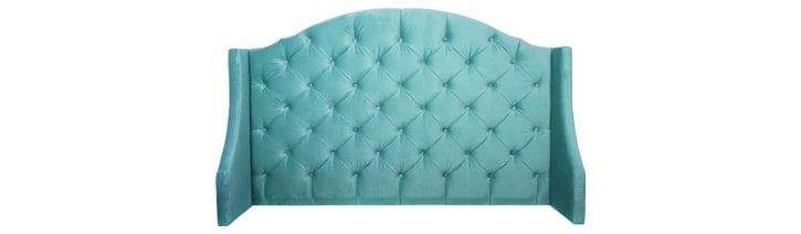 Picture of a wingback headboard.