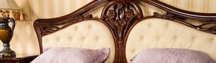 Picture of an elegant upholstered headboard.