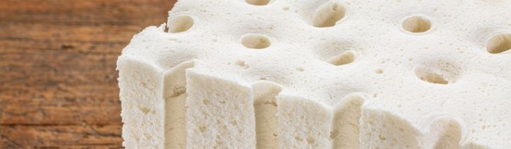 Latex foam.