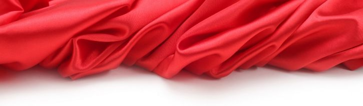 Red silk bed sheet.