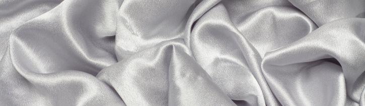 Grey silk satin bed sheet.