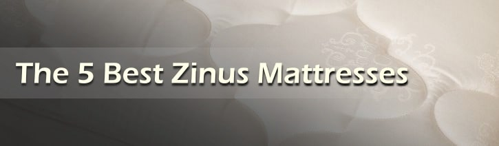 The 5 Best Zinus Mattresses Featured Image Tile.