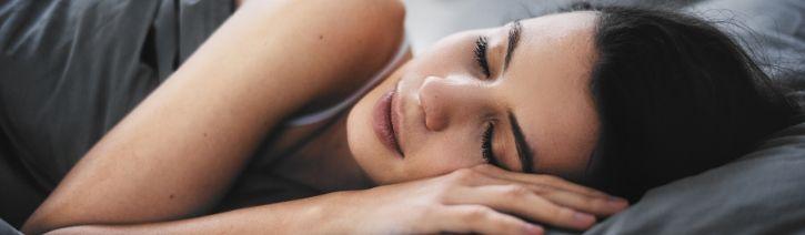 Woman Sleeping on a Zinus Spring Mattress.