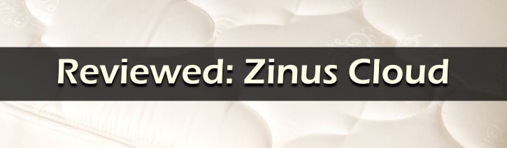 Zinus Cloud Review Featured Image Graphic.