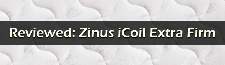 Zinus iCoil Mattress Review Featured Image Graphic.
