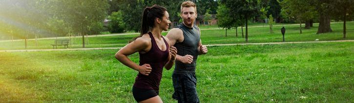 Couple Jogging.