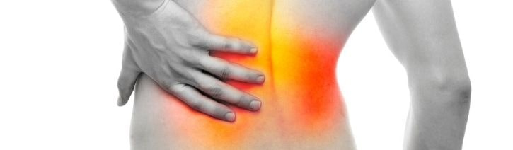 Infrared heat map showing back pain.