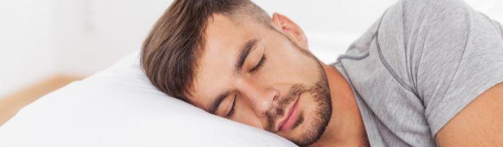 Man Sleeping on a Casper Wave Mattress.