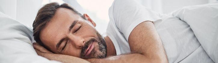 Man Sleeping on a Vibe Mattress.