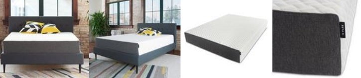 The 12 Park 11 Inch Deluxe Gel Memory Foam Mattress from Different Angles.