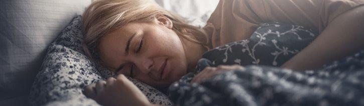 Woman Sleeping On a Softsea Mattress.
