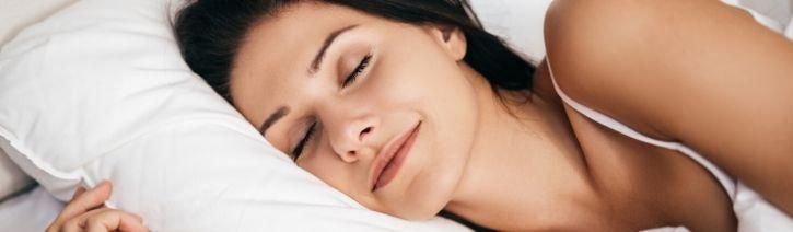Woman Sleeping on a Casper Element Mattress.