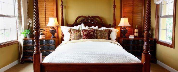 Latex Mattress in Bedroom.