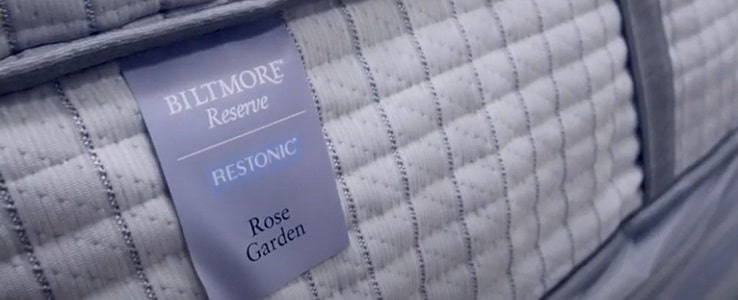 The Restonic Biltmore Rose Garden Mattress.