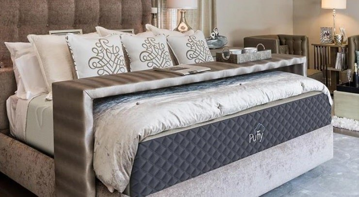 The Puffy Lux Mattress With Bedding