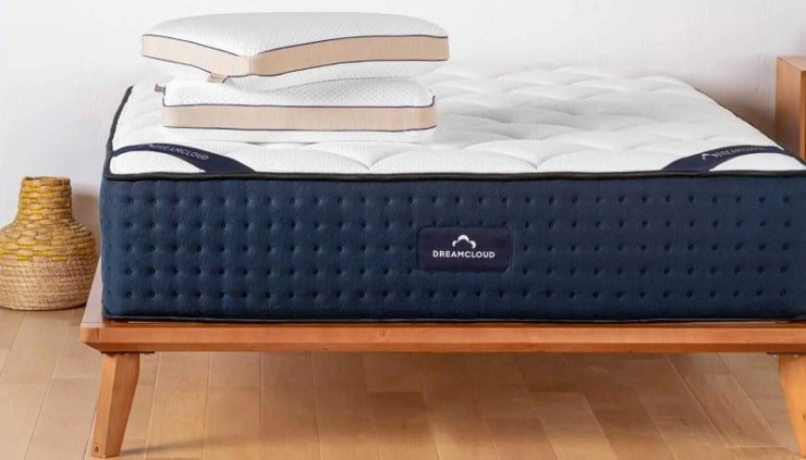 The DreamCloud Luxury Hybrid Mattress.