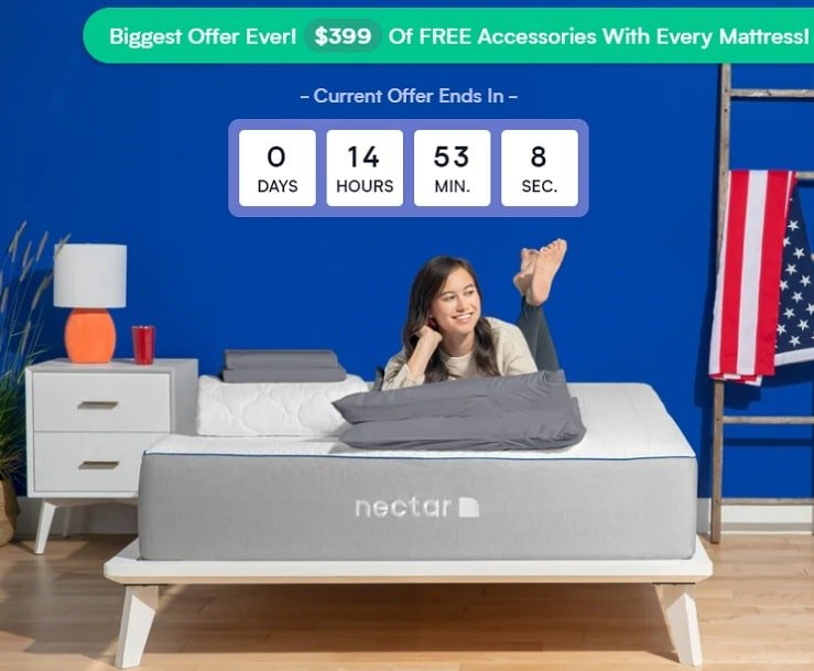 The Nectar Mattress With a Free Gift Offer.