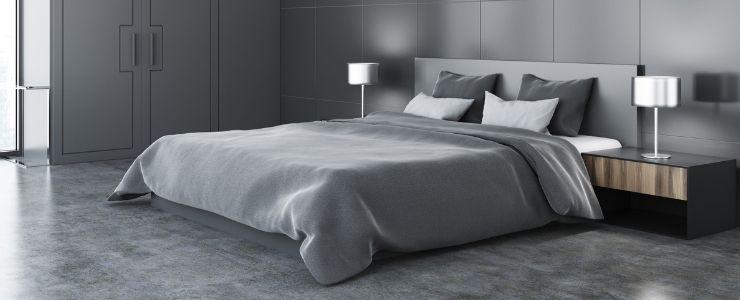 Gray Bedding Decor.