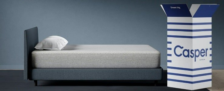Casper Mattress With Memory Foam.