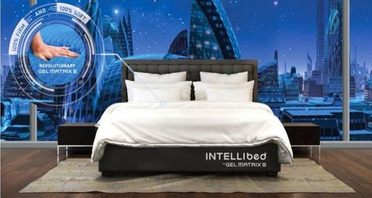 "Intellibed Midnight Luxury 16.25"" Medium Mattress."