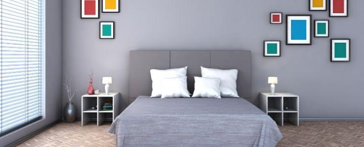Freshly Painted Bedroom.
