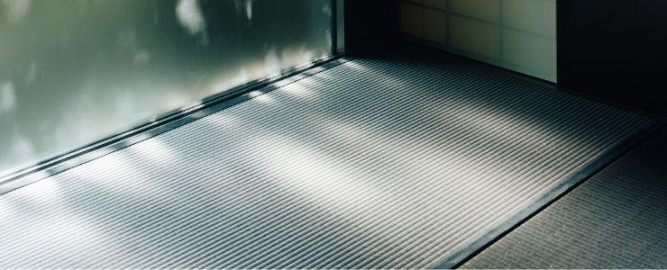 A Tatami Mat on the Floor for Sleeping.