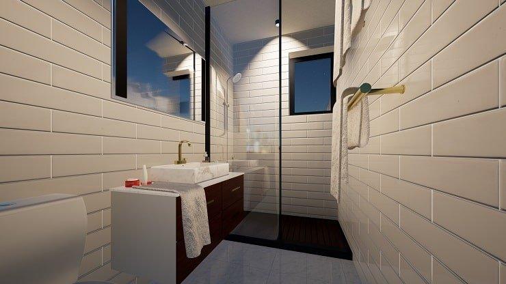Coordinated Bathroom Floor and Wall Finish
