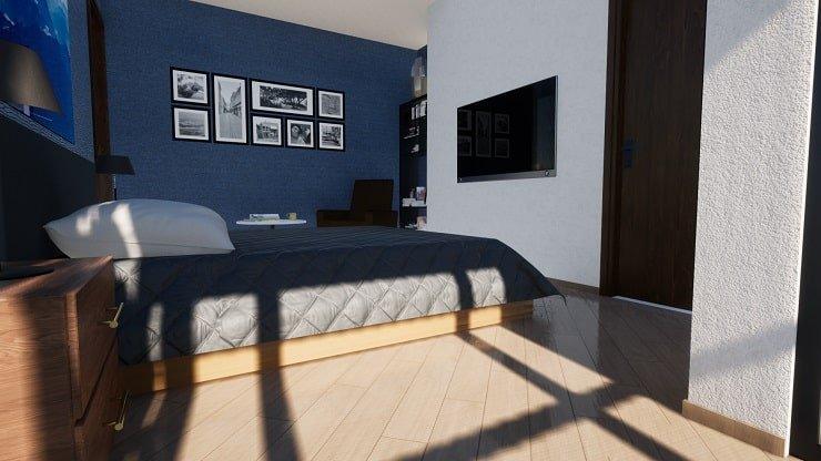 Diagonal Master Bedroom Flooring