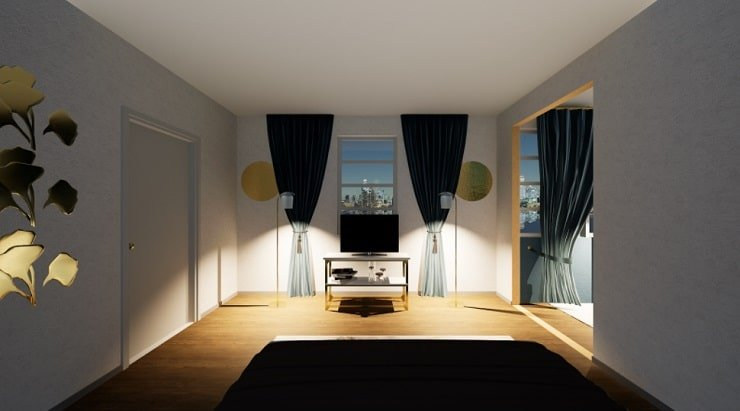 Drapes Coordinated With Wall Color