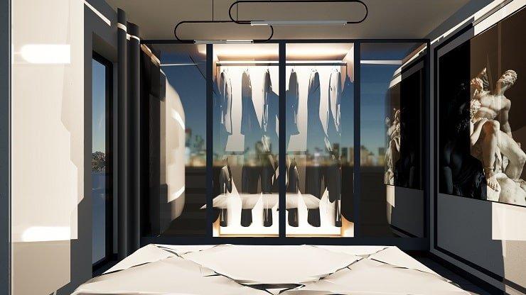 Smart Lighting in a Bedroom Dressing Area
