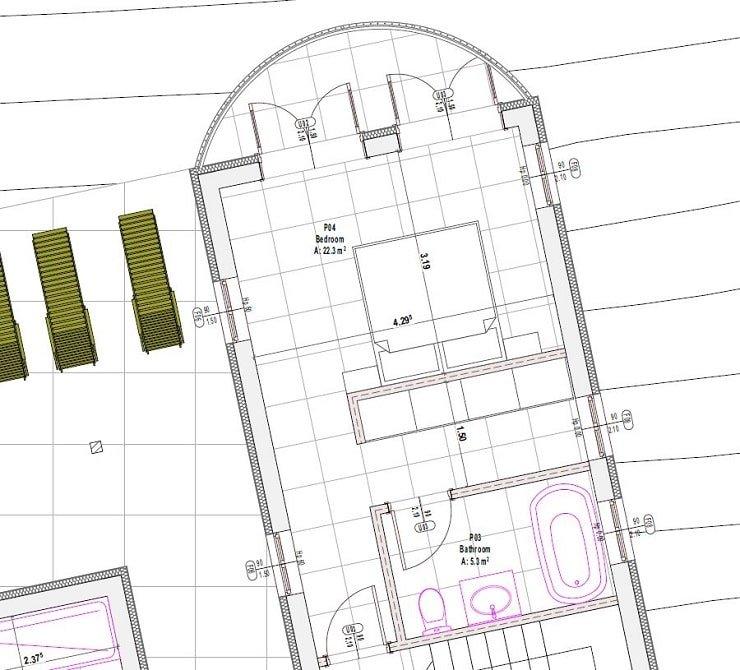 Floor Plan of a Master Bedroom With En-suite and Open Dressing Area