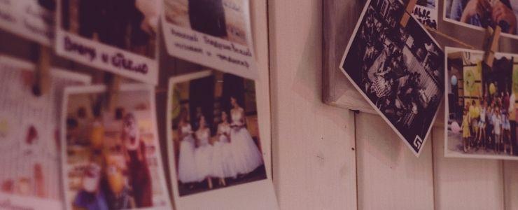 Photos on a Bedroom Door