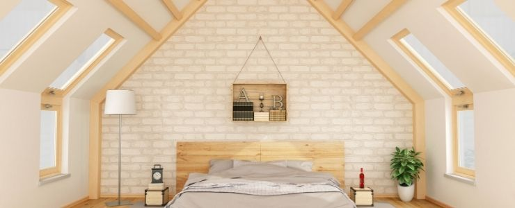 Attic Bedroom With Modest Aesthetic and Materials
