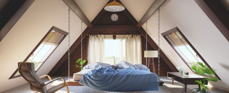 Attic Bedroom With a Hanging Bed