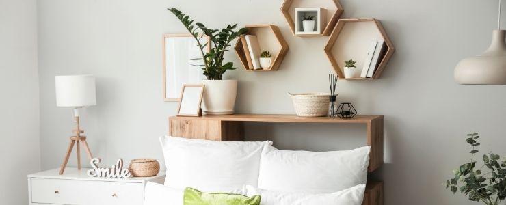 Hexagonal Bedroom Wall Shelves