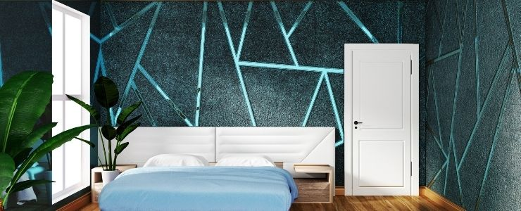 Green Lines on Bedroom Wall