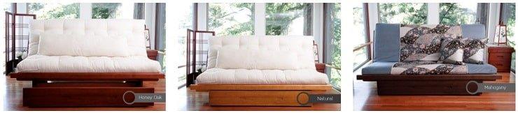 Okinawa Bi-Fold Wood Futon Frame