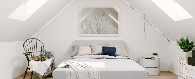 Scandinavian Attic Bedroom