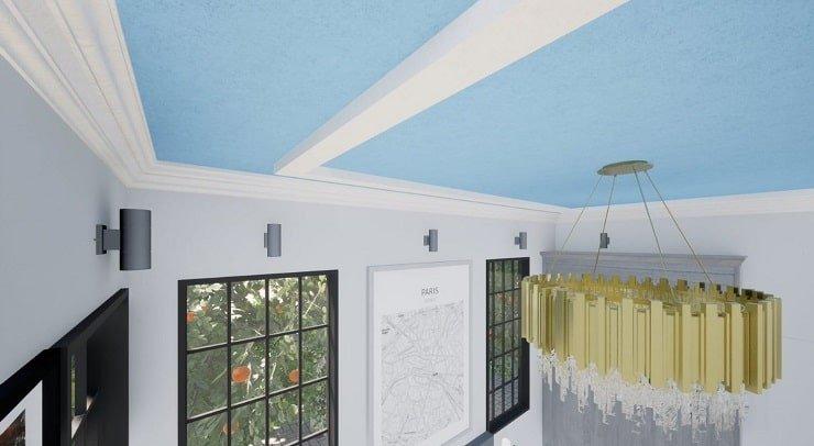 Textured Bedroom Ceiling