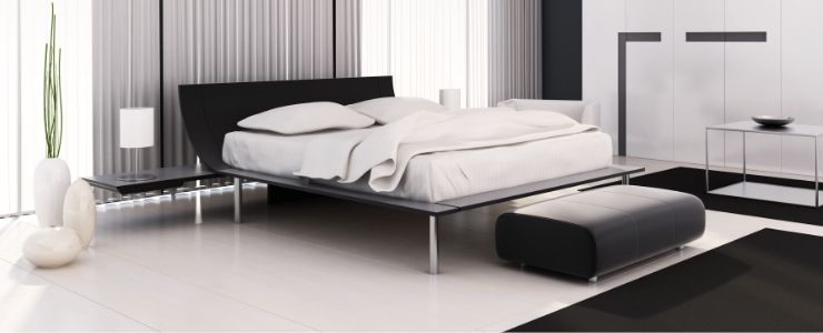 White Minimalist Bedding