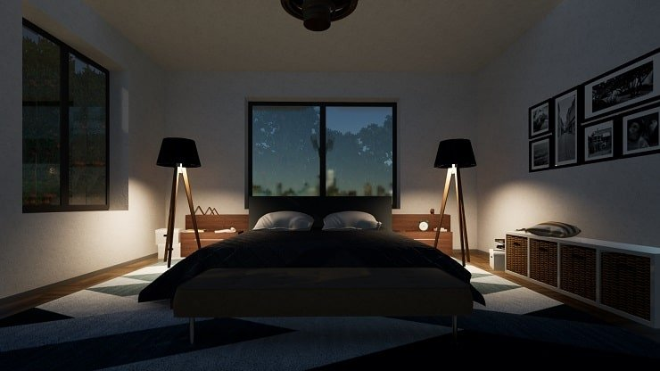 Double Bed With Lighting