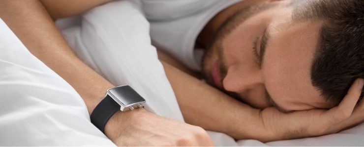 Man Sleeping In Smart Watch.