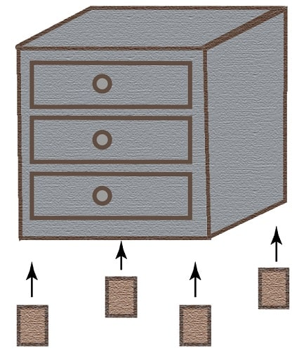 Add Legs to Make the Nightstand Taller