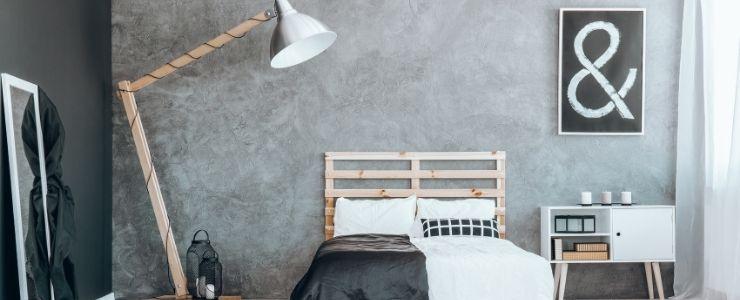 Boho Black and White Bedroom.