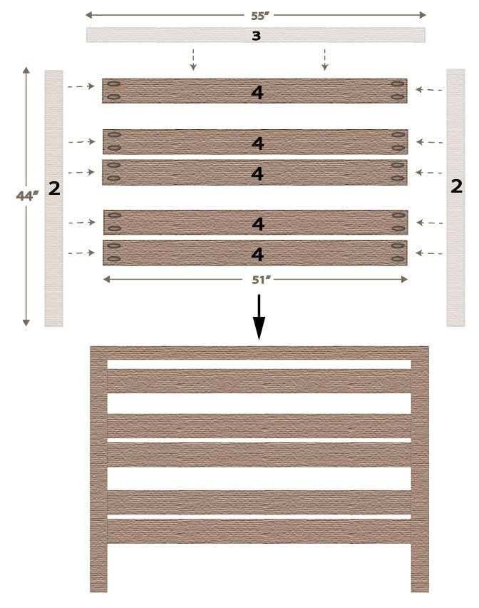 Headboard for Adjustable Bed