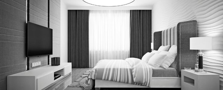 Subtle Monochrome Bedroom