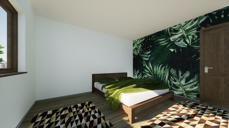 Indie Bedroom With Patterned Rugs