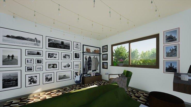 Indie Photo Wall in Bedroom