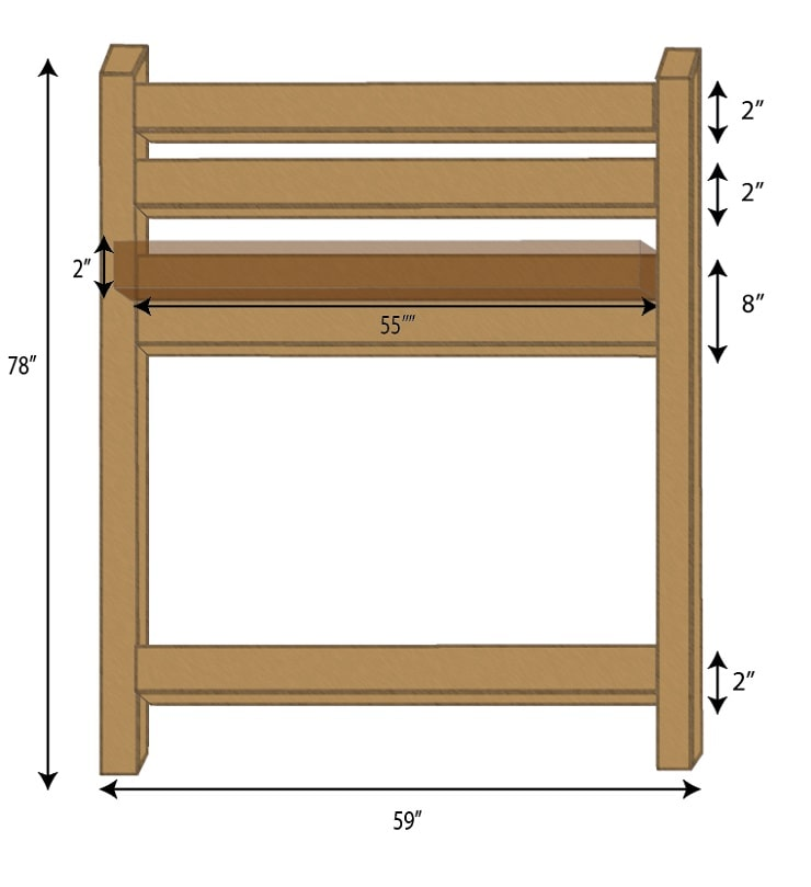 Loft Bed Headboard and Footboard Frame