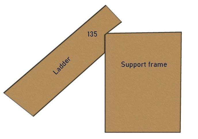 Loft Bed Ladder Support Frame